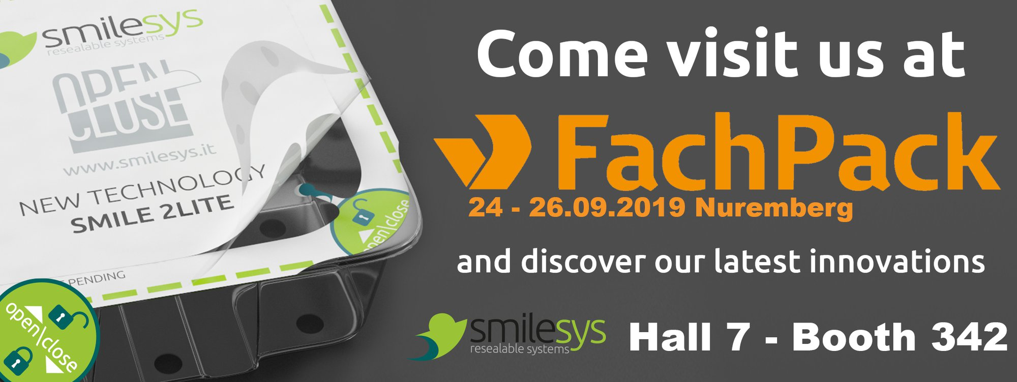 Smilesys Fachpack 2019, espositore, FachPack, fiera 2019, fiera packaging