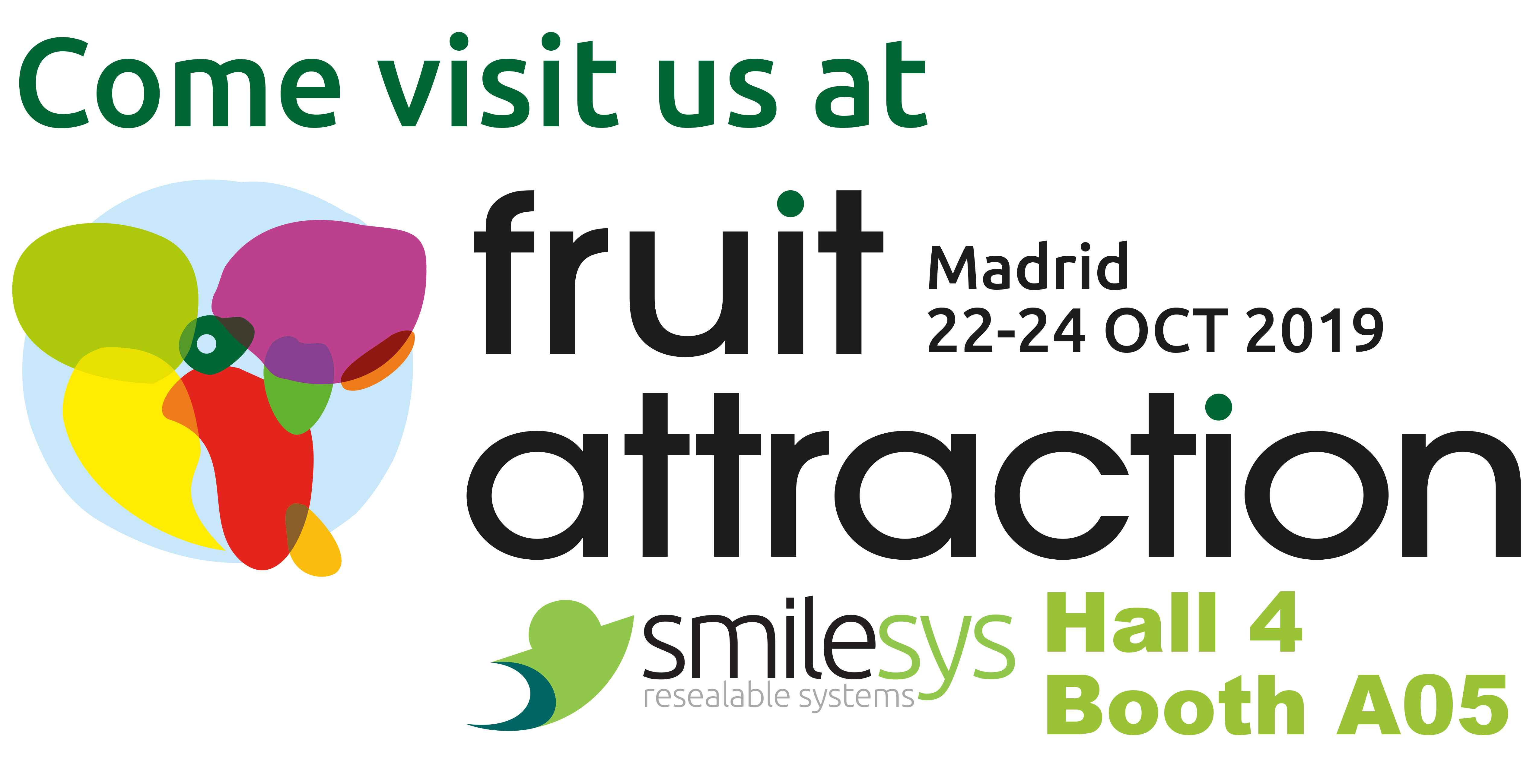 from October 22nd to 24th we will exhibit at Fruit Attraction Madrid